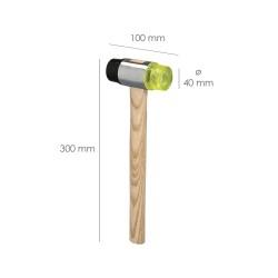 Soporte Para Madera Placa Bicromatada 40x80 mm.