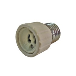 Adaptador bombillas E27 a GU 10