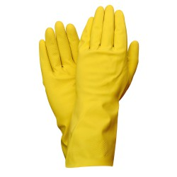 Guantes Latex 100% Basic Domesticos  M (Par)