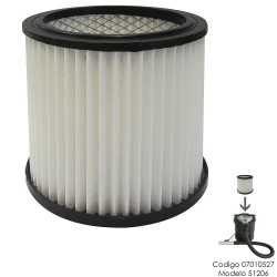 Filtro Para Aspirador De Cenizas 07010527 (Modelo 51206)