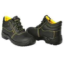 Botas Seguridad S3 Piel Negra Wolfpack  Nº 42 Vestuario Laboral,calzado Seguridad, Botas Trabajo. (Par)