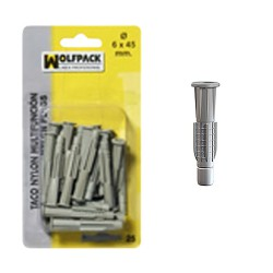 Taco Multiaccion MU  6x45 mm. (25 Piezas)