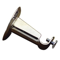 Soporte Barra 12 mm.Ø Cromo Frontal Redondo