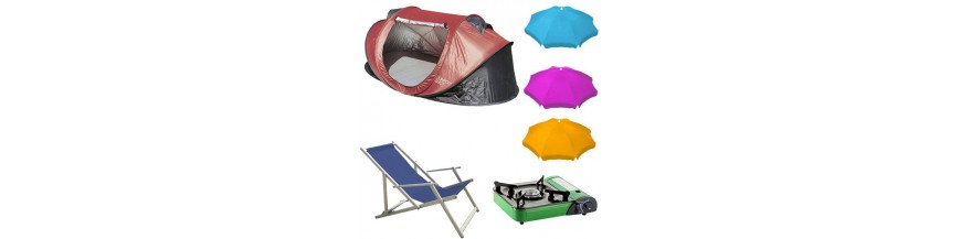 Camping, playa y accesorios